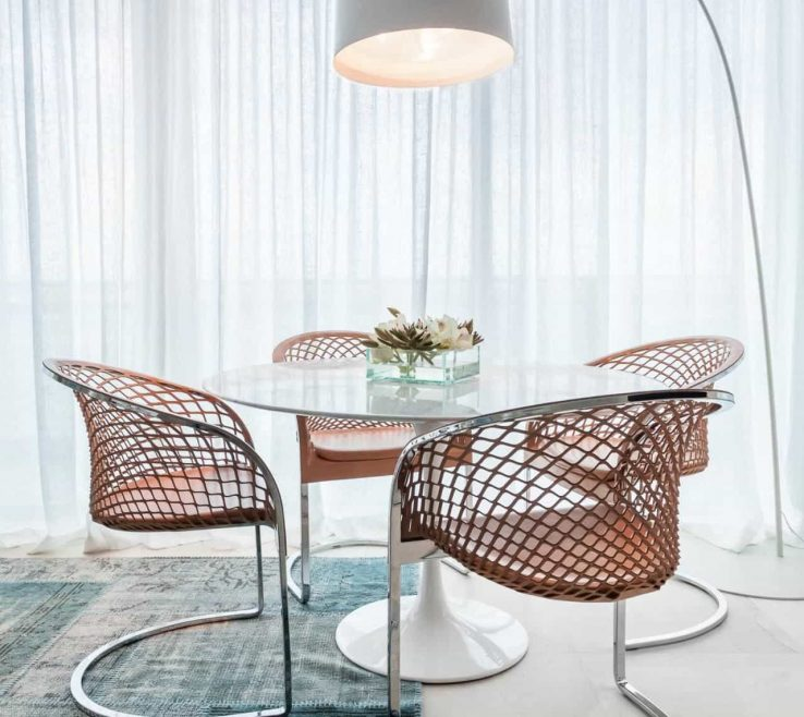 Adorable Dining Room Floor Lamps Of With Round Table And Modern Chairs And