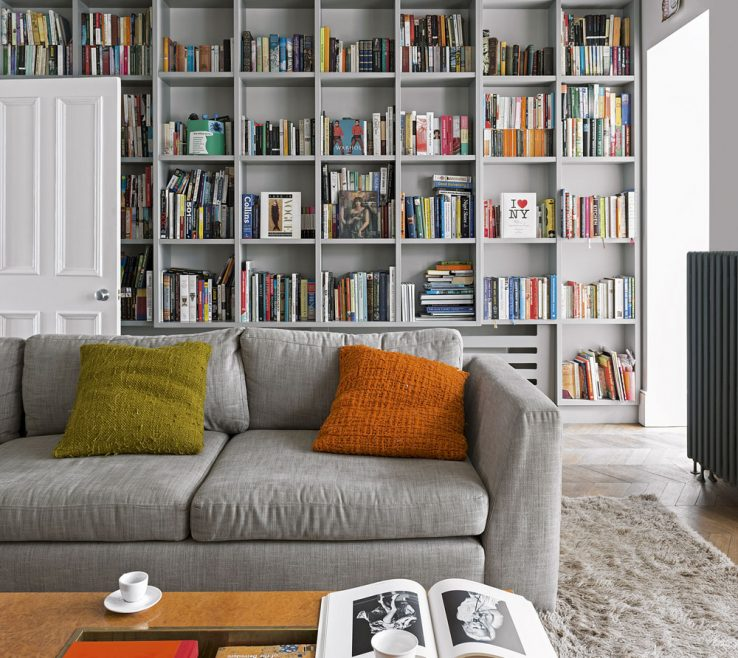 Adorable Grey Colour Schemes For Living Rooms Of 2. Match Walls And Shelving