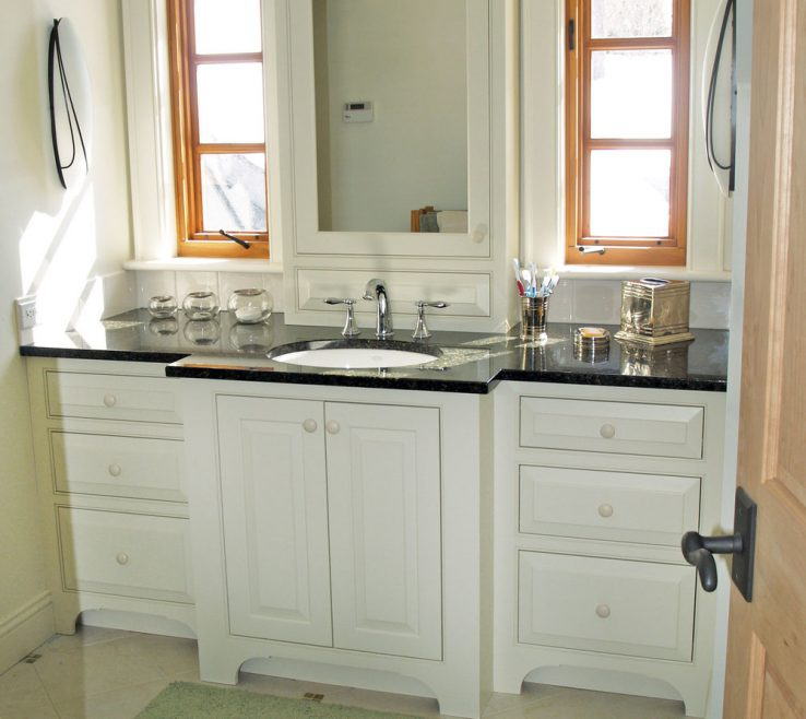 Adorable His And Her Bathroom Vanities Of White Vanity