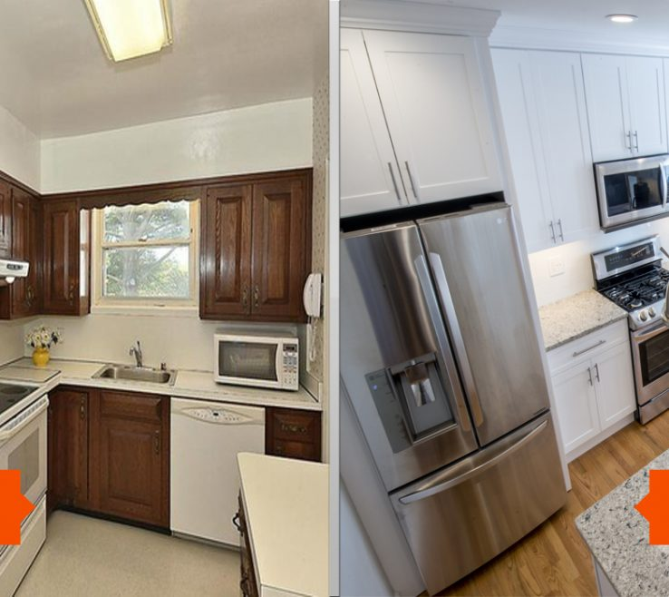 Adorable Kitchen Renovation Before And After Of Small Remodel Stylish Renos Layout E