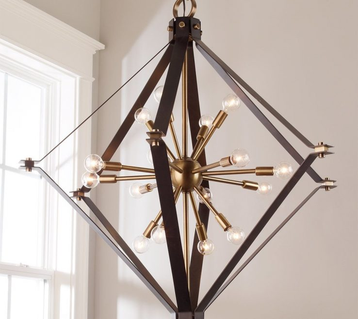Adorable Lantern Chandelier Dining Room Of Awesome Cage Sputnik For Decor