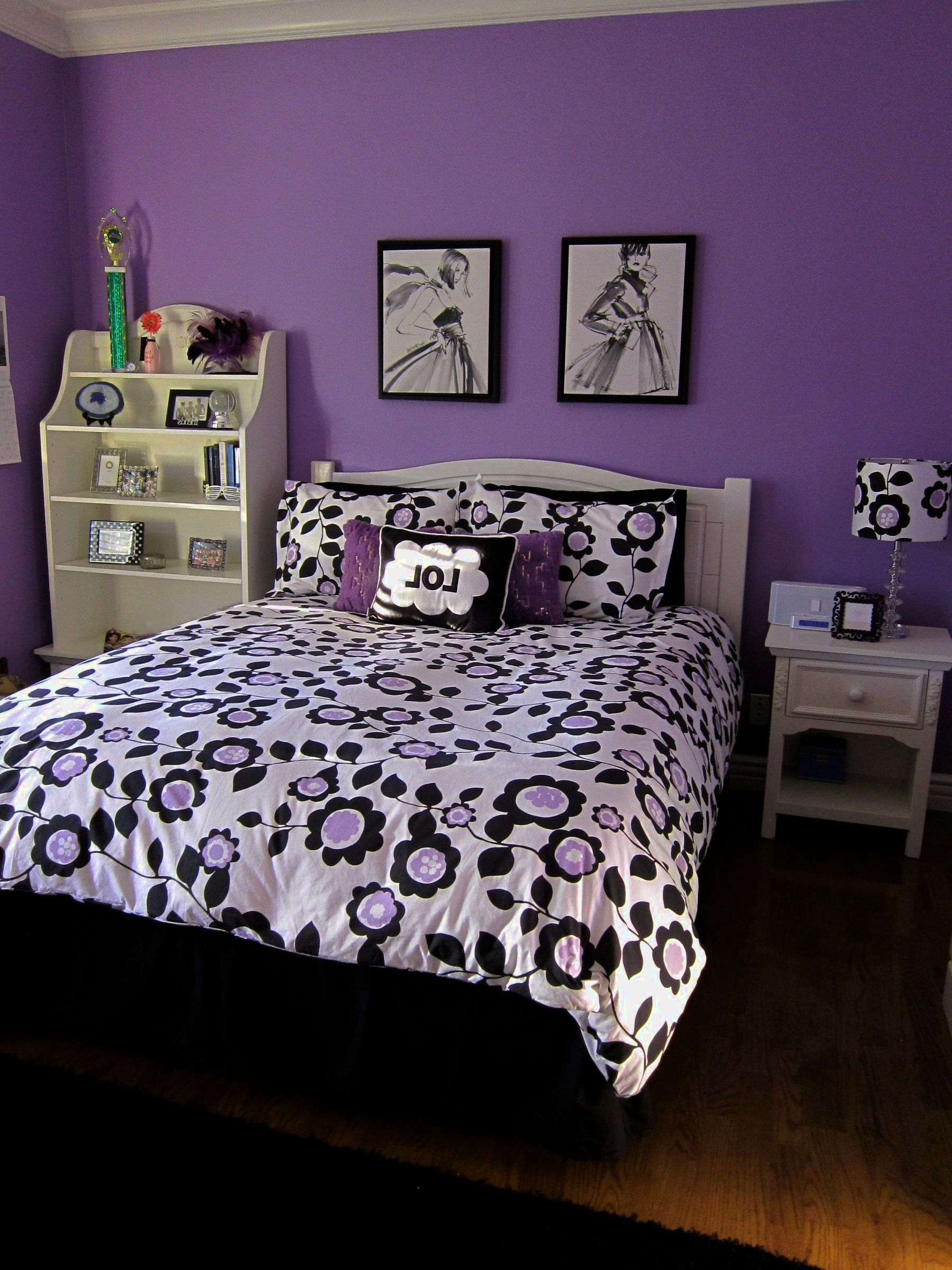 Adorable Purple Wall Decor For Bedrooms Of Bedroom Teen Girl ...