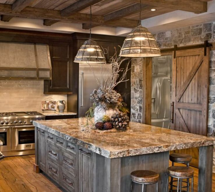 Adorable Rustic Kitchen Pictures Of Sierra Escape Wood & Stone