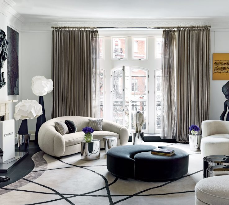 Alluring Architectural Digest Living Room Of How To Incorporate Ottomans Into Your Decor