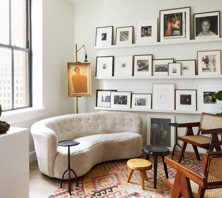 Alluring Architectural Digest Living Room Of This Dreamy Tribeca Loft Takes With Art