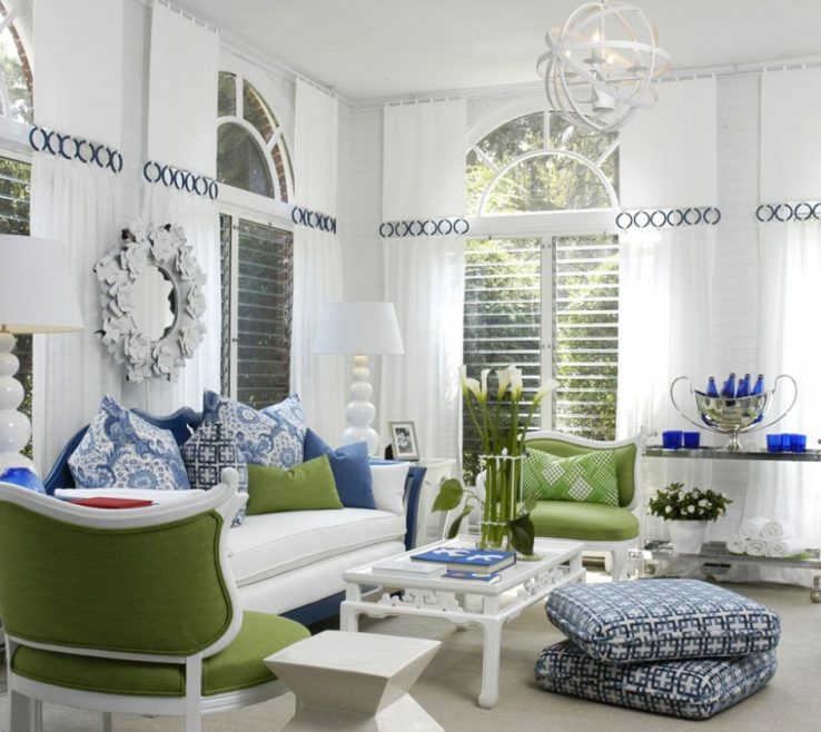 Alluring Blue And Green Living Room Of Awesome Very Nice
