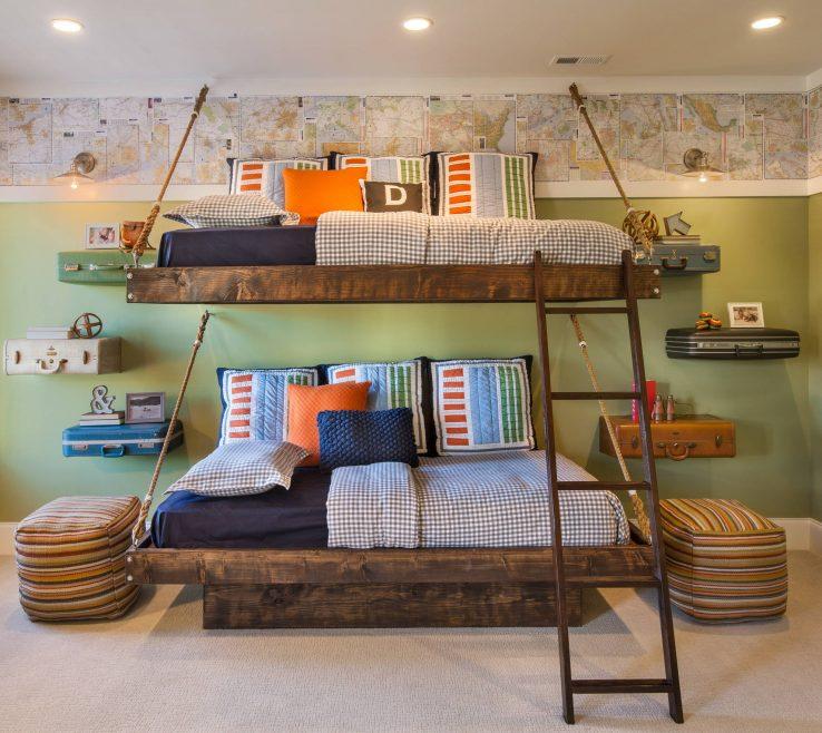 Alluring Kids Bedroom Designs Of Charming Rustic Room That Strike