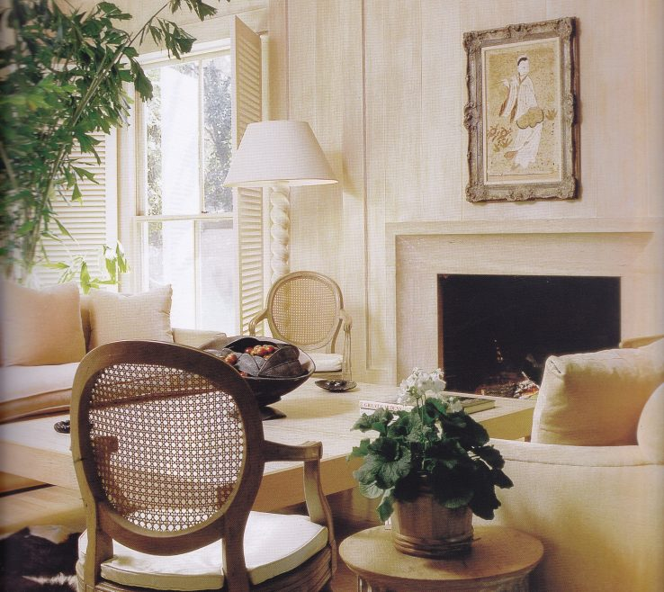 Alluring Monochromatic Living Room Of The Michael Taylor Designed For Mabel