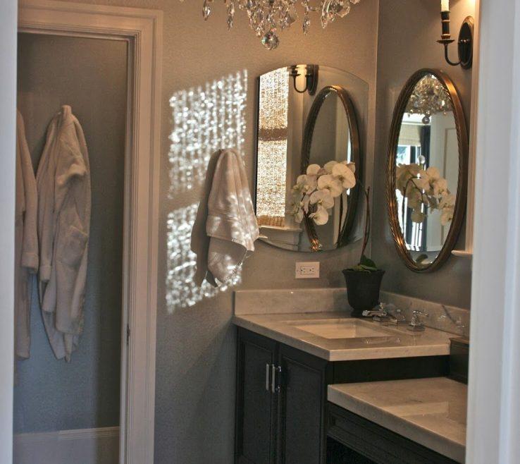Amazing Bathroom Chandeliers Ideas Of Color For Master Bath Elegant Retreatoval Mirror