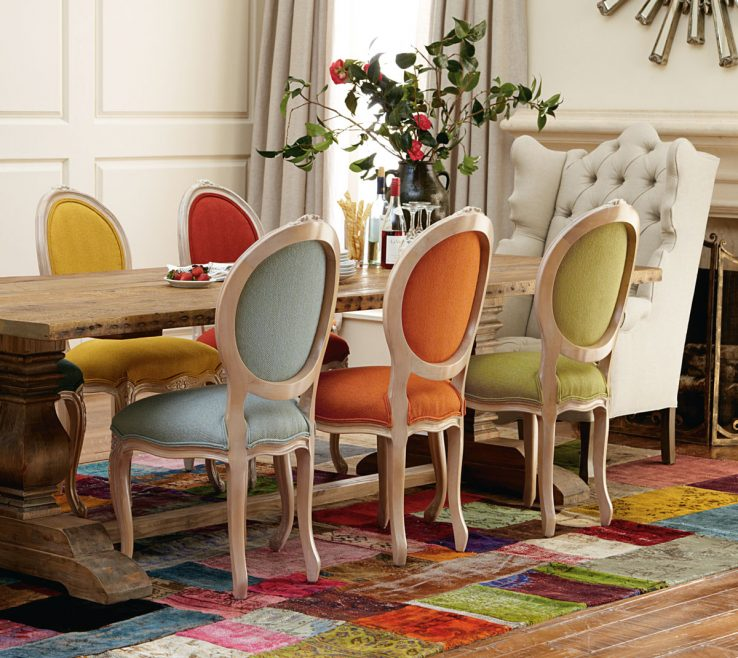 Amazing Dining Table With Different Chairs Of Mix And Match