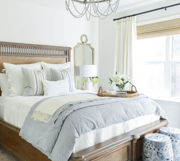 Amazing Guest Bedroom Decorating Ideas Of One Room Challenge Blue And White Reveal