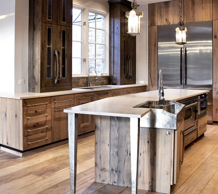 Amazing Rustic Contemporary Kitchen Of Modern Decor For Country Spirited Sophisticates