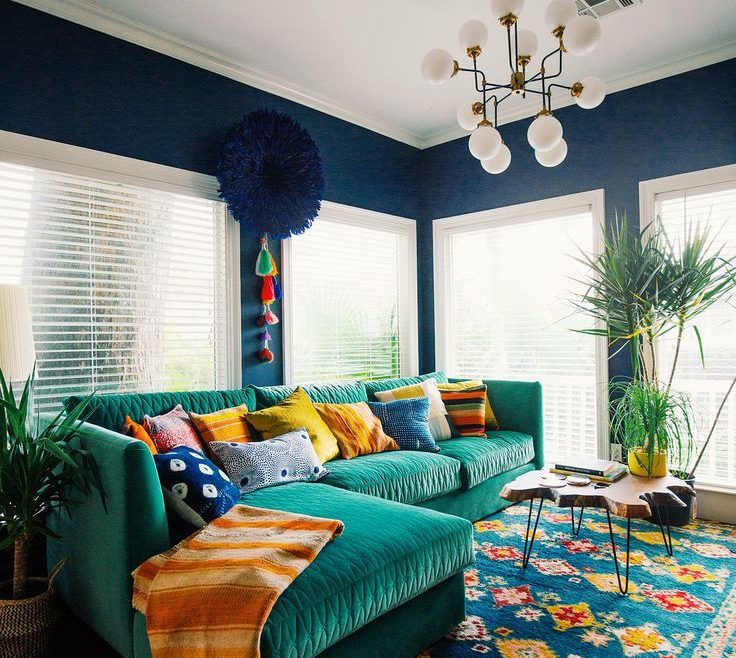 Artistic Blue And Green Living Room Of 10 More Must Have Pieces For Your Bohemian