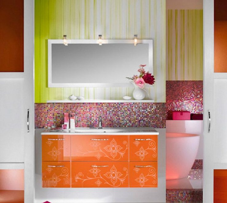 Artistic Colorful Bathrooms Of Colorful Bathroom For Girls And Stunning To Renew Yours
