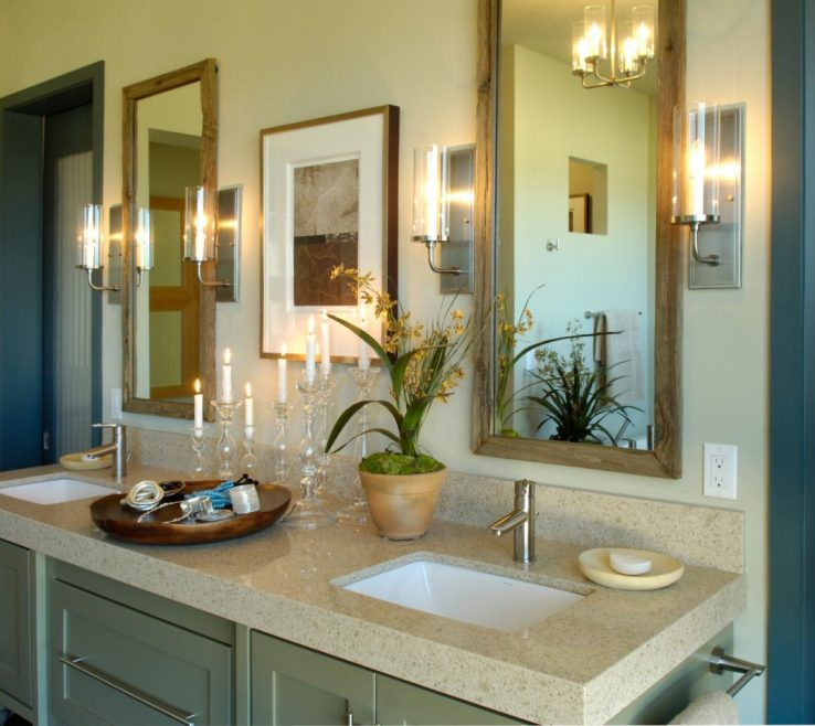 Artistic His And Her Bathroom Vanities Of Master Bathrooms