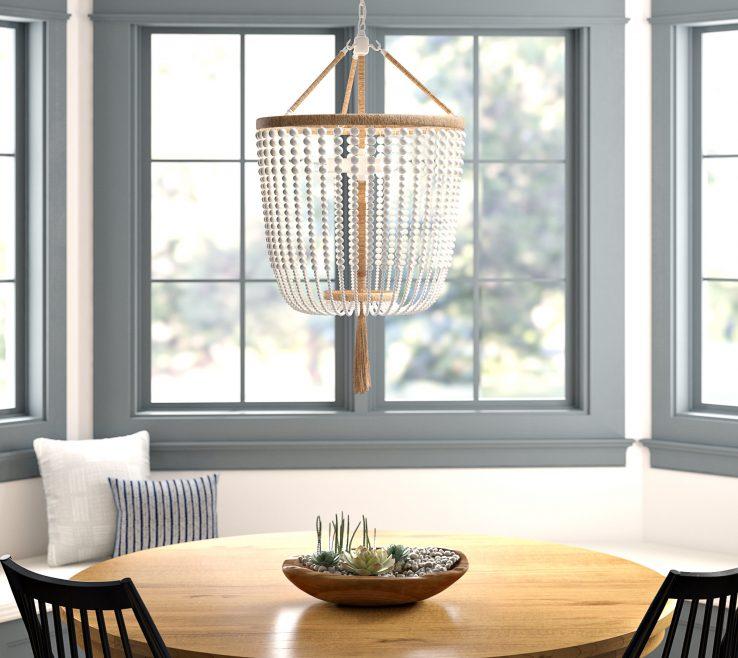Artistic Lantern Chandelier Dining Room