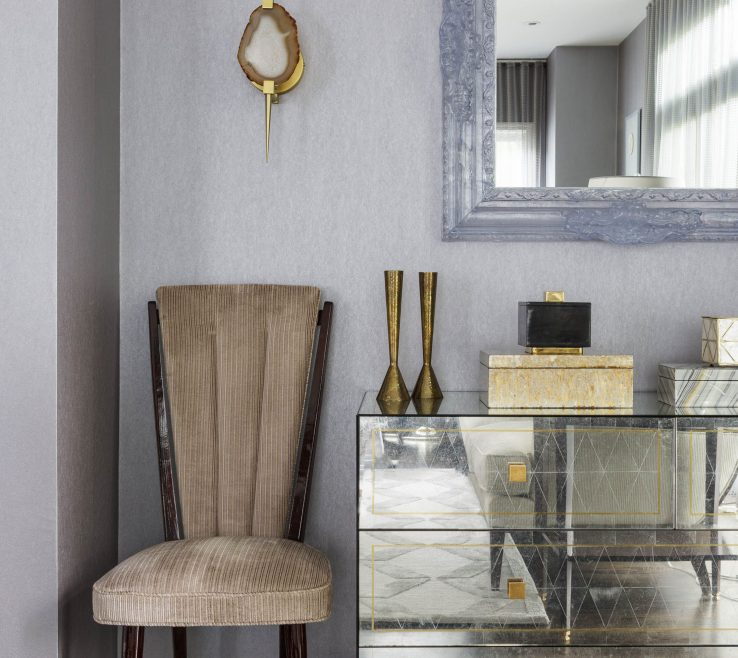Artistic Living Room Sconces Of Room, Heather Vaughan Design, Boxes, Custom Wall