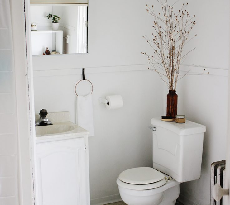 Astonishing Apartment Bathroom Of White Decor @themerrythought