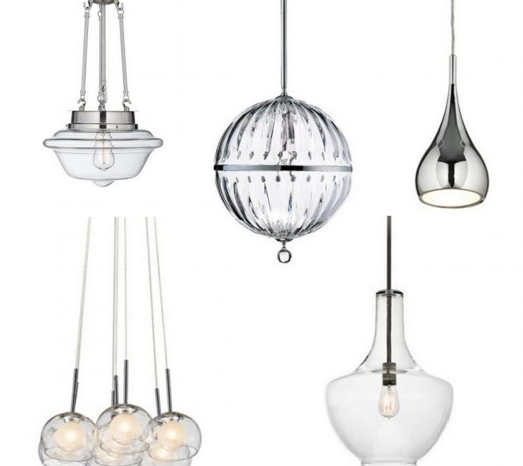Astonishing Kitchen Pendant Lights Images Of A Selection Of Five Glass Pendants From