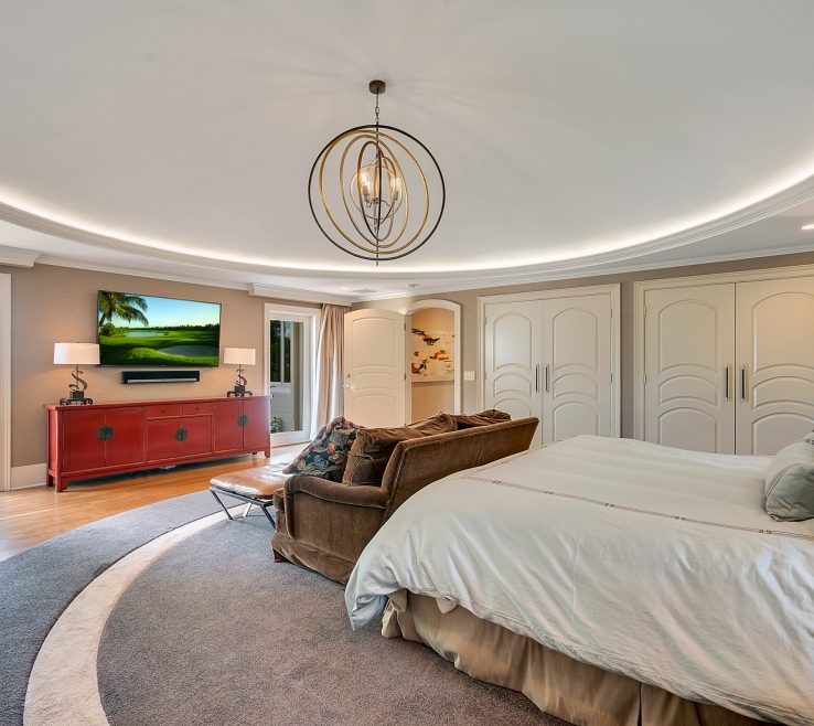 Astonishing Master Bedroom Suite Of Domed Ceiling