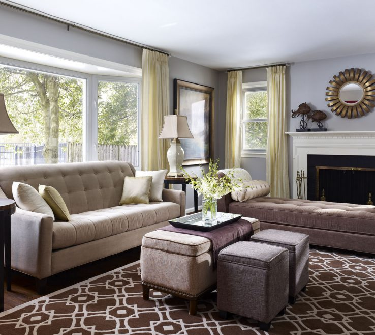 Astonishing Ottoman Ideas For Living Room Of Brown And Gray Fabric Storage E