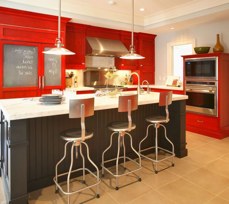 Astonishing Red Kitchens Of Kitchen Paint Home Design Bq Wall Colors