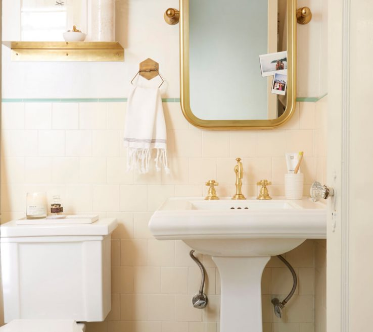 Astounding Apartment Bathroom Of Rental Makeover Takeover Redesign Brady Tolbert White