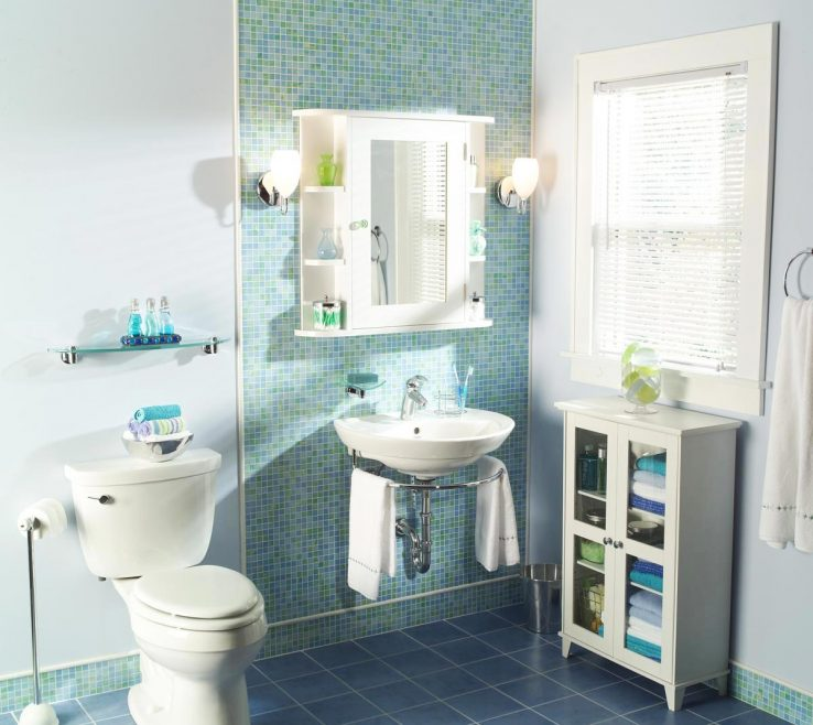 Astounding Bathroom Makeovers Before And After Of Makeover Blue Teal Tile Wall