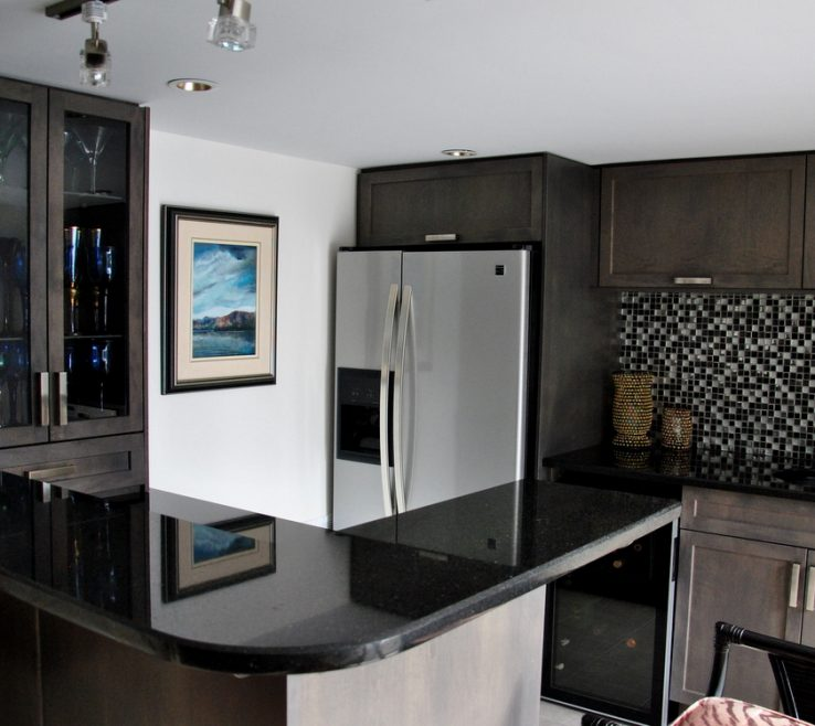 Astounding Black Granite Kitchen S Of Matte Black Quartz S Antique Black Granite