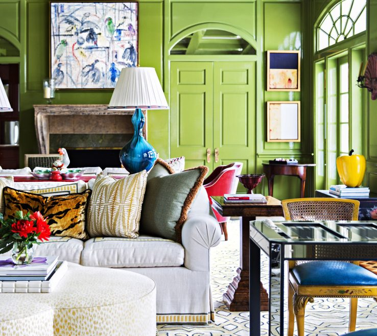 Astounding Blue And Green Living Room
