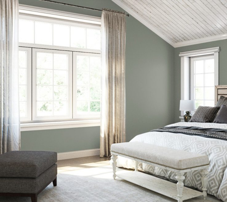 Astounding Gray Color Bedroom Of Greens