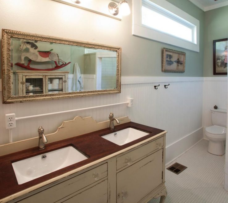 Astounding His And Hers Bathroom Sinks Of Master With Antique Vanity Makeover