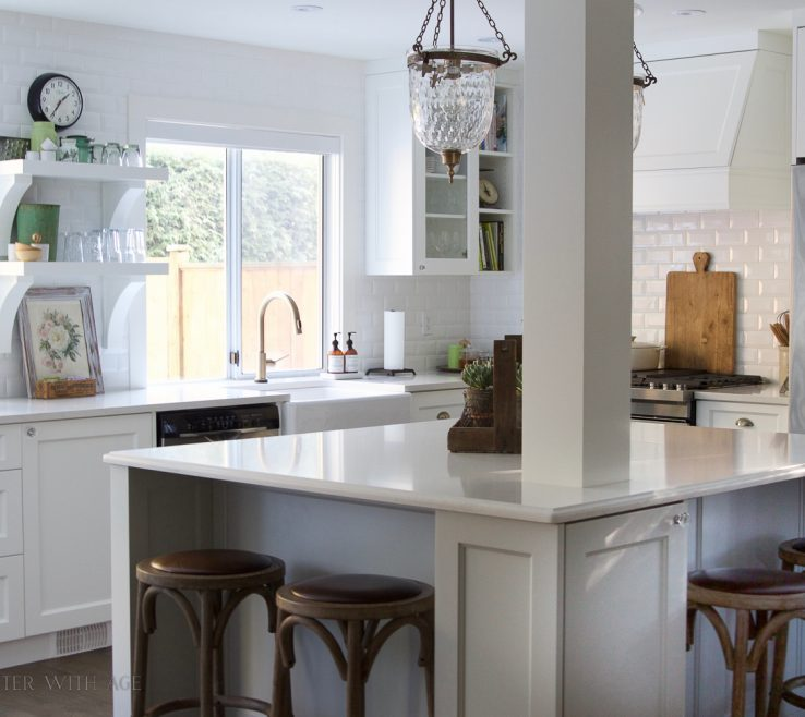 Astounding Kitchen Renovation Before And After Of Renovation Walls Removed My Big Beautiful