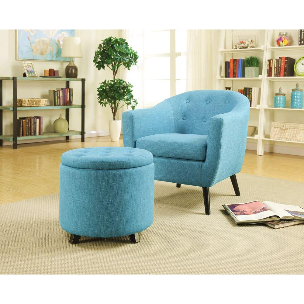 Astounding Living Room With Ottoman Of Home Decorators Collection Modern Fabric Storage