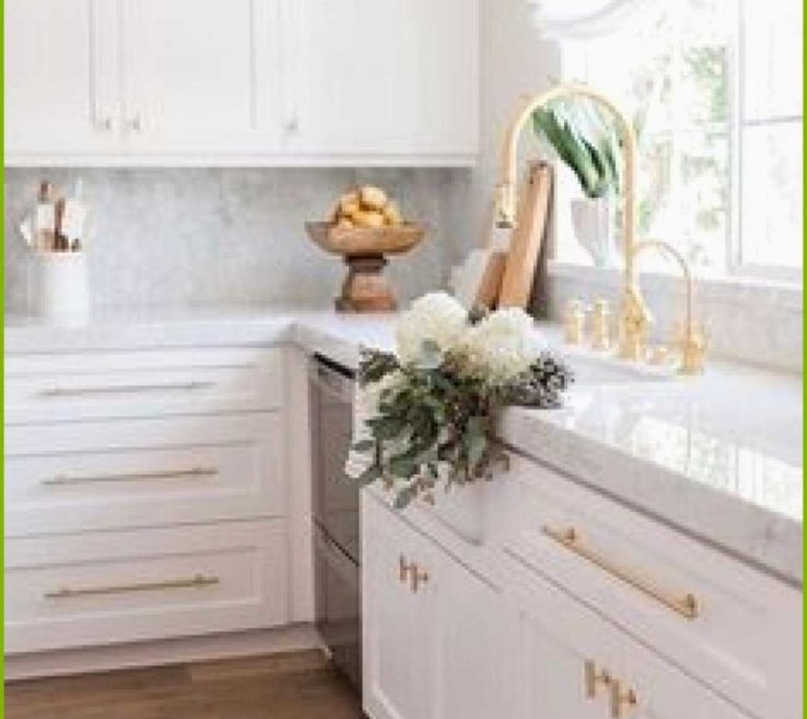 Astounding Luxury White Kitchen Of Copper Hardware Pulls S Adorned