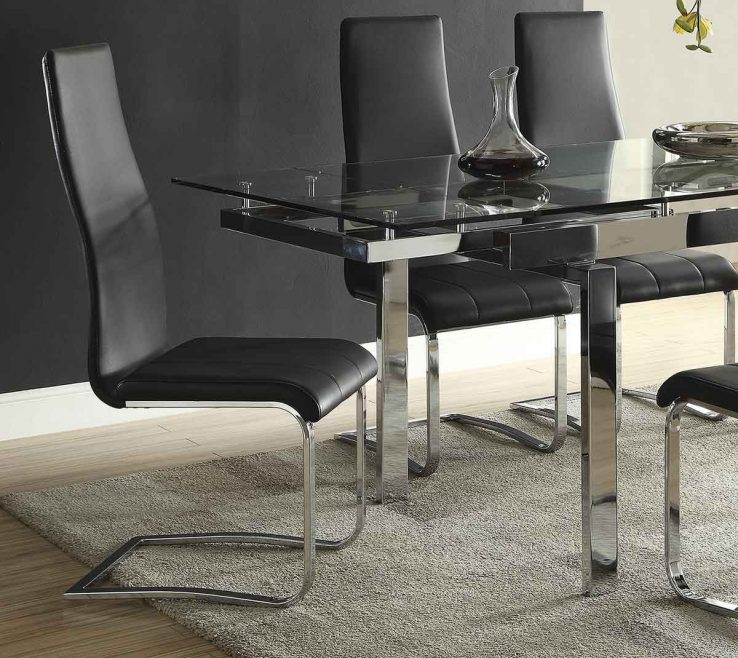 Astounding Mix And Match Dining Chairs Of Coaster & Chair Black