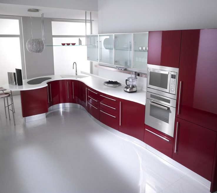 Astounding Red Kitchens Of Kitchen