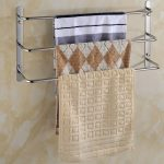 Attractive Bathroom Towel Storage Wall Mounted Of cm Length Layers Stainless Steel Rack