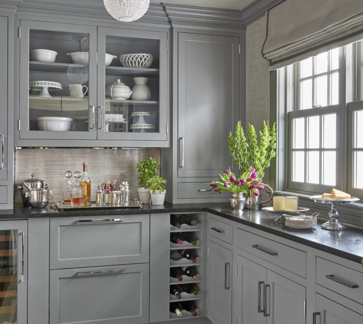 Attractive Black Granite Kitchen S Of A First Class Butler