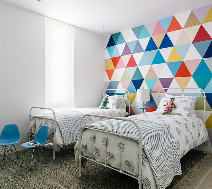 Attractive Cool Kids Bedrooms Of Wallpaper Adds Color And Pattern