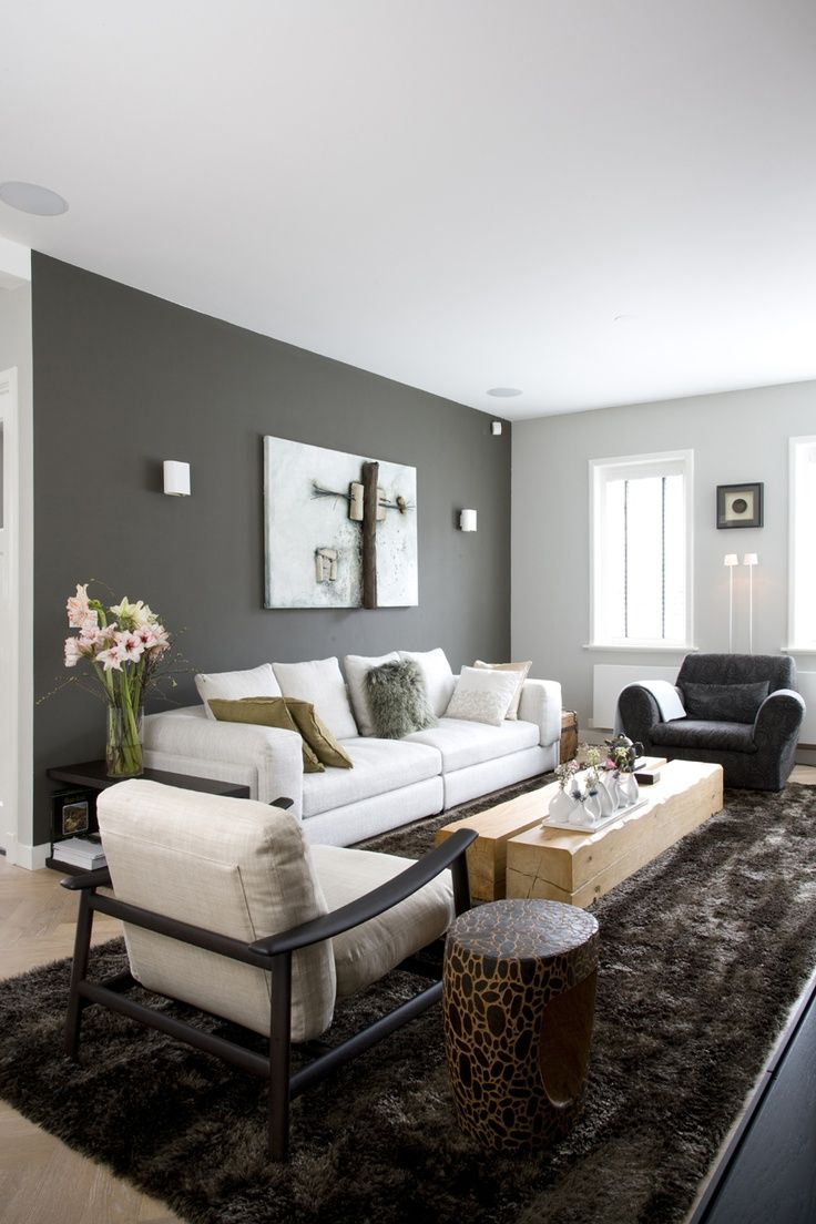 Attractive Gray Paint Living Room Of Walls