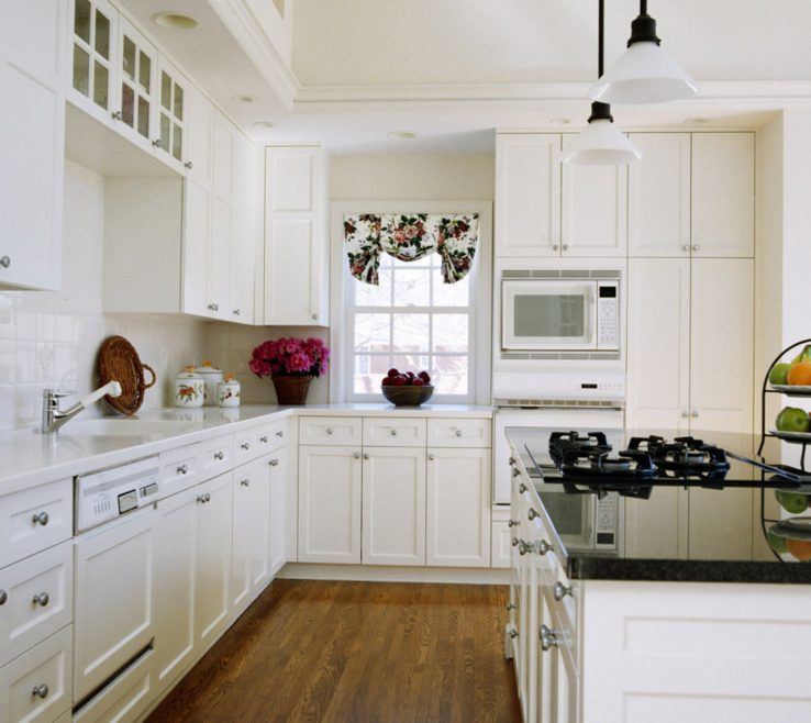 Attractive Luxury White Kitchen Of S With Granite S