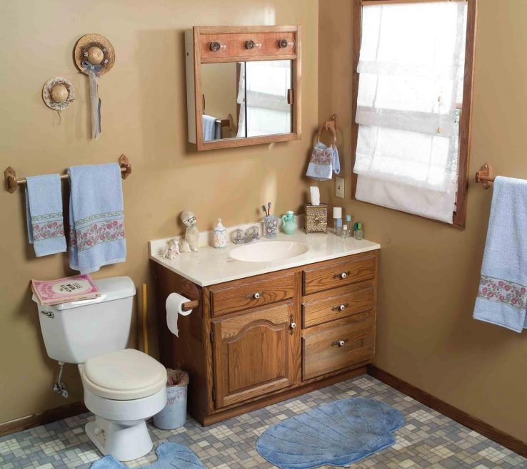 Bathroom Before And After Of Out Dated