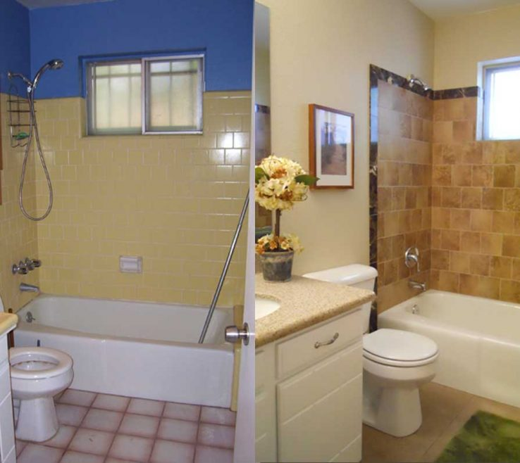 Bathroom Before And After Of Picture Remodel