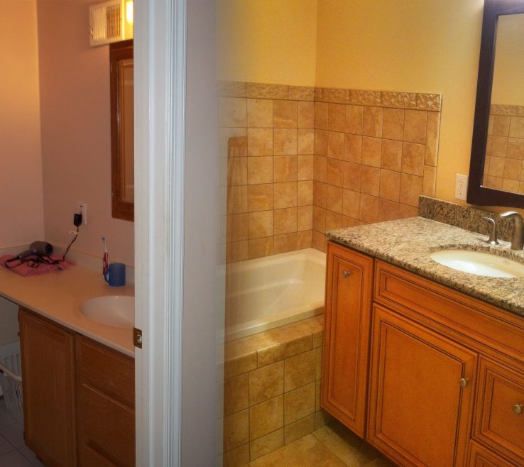Bathroom Remodeling Ideas Before And After Of 1960s Renovation | , & Remodel