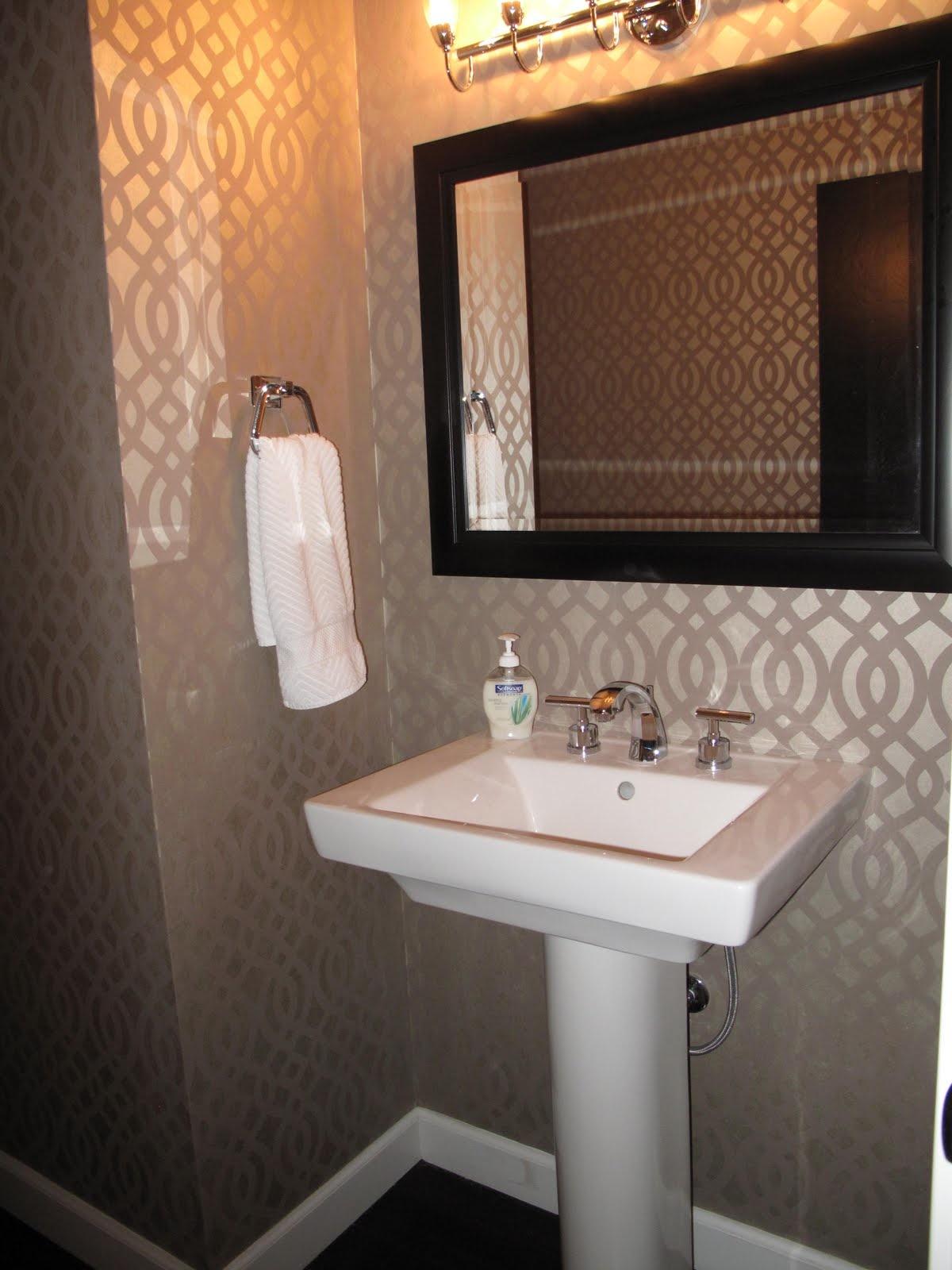 Bathroom Wall Paper Of Powder Room Ideas With 5641 Acnn Decor