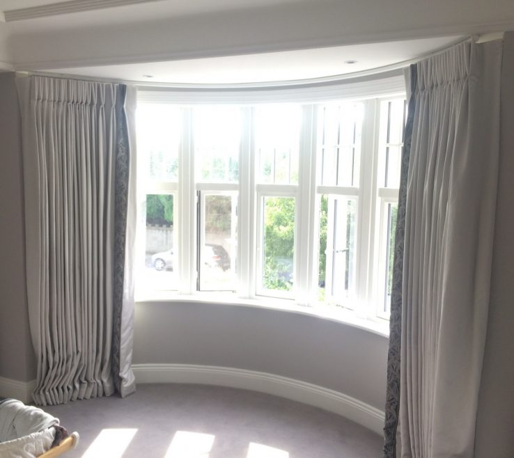 Bay Window Bedroom Of Kitchen Coverings 19 Curtains Curtains Curved Curtain