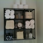 Beautiful Bathroom Towel Storage Wall Mounted Of Mount Wire Shelving