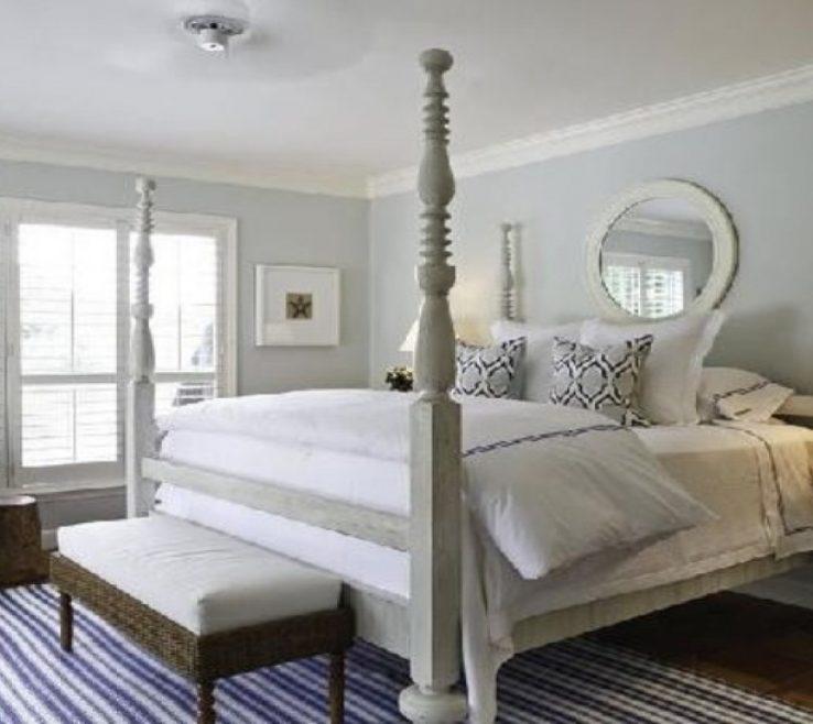 Beautiful Blue Gray Bedroom Of Bedroom, Color Scheme