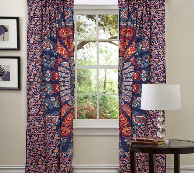 Beautiful Living Room Tapestry Of Beautiful Ready Made Treatment Bohemian Set Curtaingalleryn
